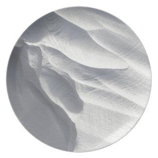 Sculpture en dérive de neige d'hiver assiette