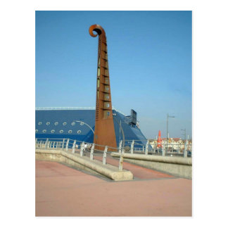 Sculpture en guitare, Blackpool Carte Postale