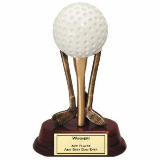 Sculpture en joueur d as de golf photo en découpe