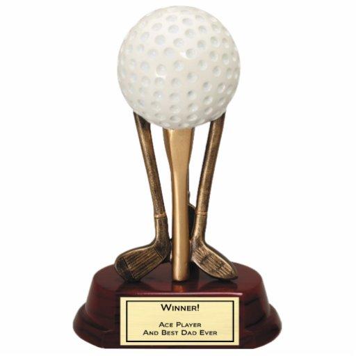 Sculpture en joueur d'as de golf photo en découpe