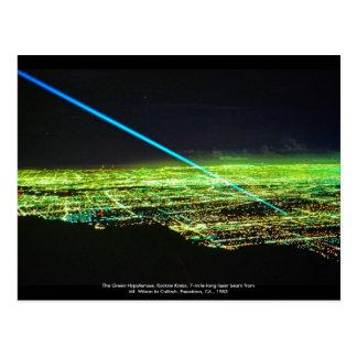 Sculpture en laser par la carte postale de Rockne