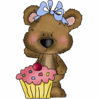 Sculpture en ours de petit gâteau photo en découpe