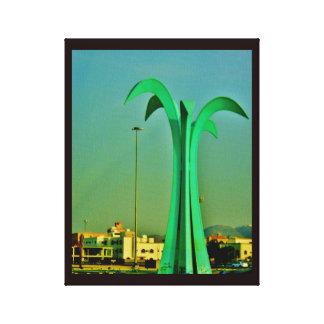 Sculpture en palmier toile