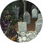 Sculpture en photo de cimetière de sorcière découpages en acrylique