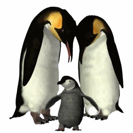 sculpture en photo de famille de pingouin photo sculpture zazzle. Black Bedroom Furniture Sets. Home Design Ideas