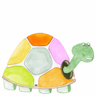 Sculpture heureuse en acrylique de tortue photo sculpture