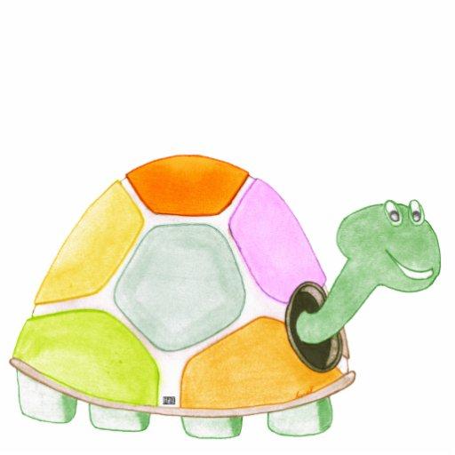 Sculpture heureuse en acrylique de tortue photos en relief