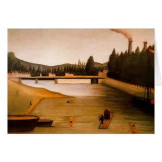 Se baigner chez Alfortville par Henri Rousseau Carte De Vœux