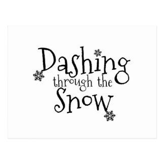 Se précipiter par la carte postale de la neige  