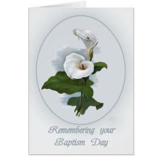 Se rappeler l'anniversaire de baptême, carte de vœux