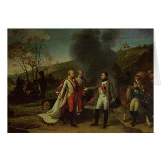 Se réunir entre le napoléon I et le Francis I Carte De Vœux
