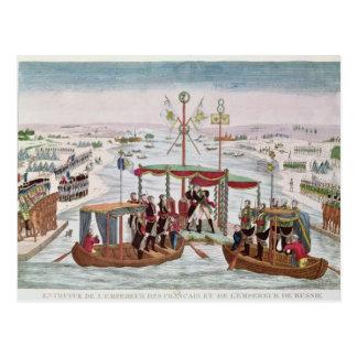Se réunir entre le napoléon I et le tsar Alexandre Carte Postale