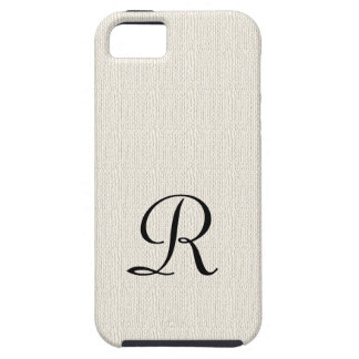 Se rustique d'iPhone de monogramme de toile de Coque Tough iPhone 5