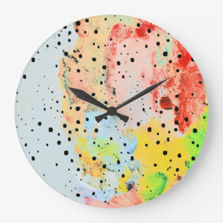 Se sent grande horloge ronde