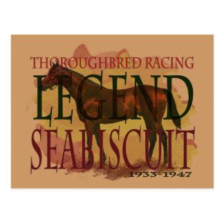 Seabiscuit - légende de emballage de pur sang carte postale