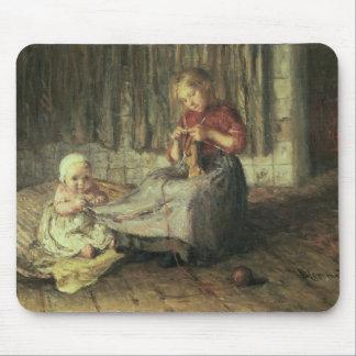 Séance de bébé tapis de souris