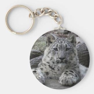 Séance de CUB de léopard de neige Porte-clé Rond