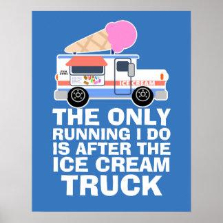 Séance d'entraînement de camion de crème glacée poster