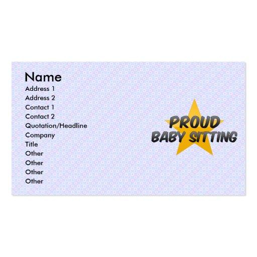 Séance fière de bébé carte de visite