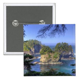 Seastacks, terres tribales de nation de Makah, cap Badge