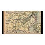 Seat de guerre civile, carte 1861 - 1865 modèles de cartes de visite
