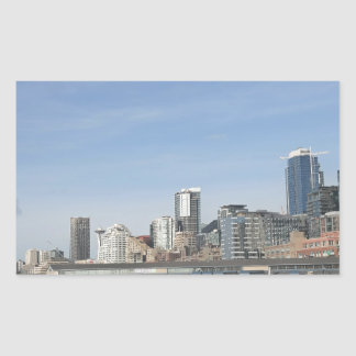 Seattle par le bord de mer sticker rectangulaire