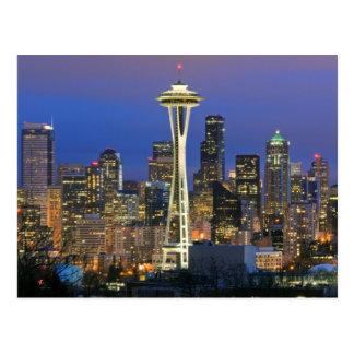 Seattle vu du parc de Kerry dans la Reine Anne Cartes Postales