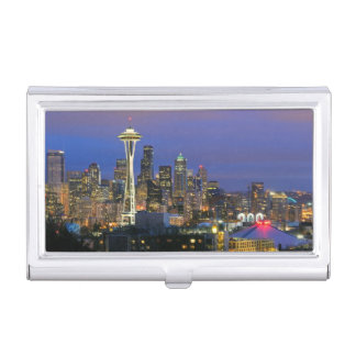 Seattle vu du parc de Kerry dans la Reine Anne Étui Pour Cartes De Visite