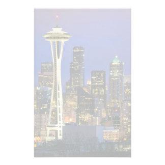 Seattle vu du parc de Kerry dans la Reine Anne Papiers À Lettres
