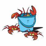 seau de crabes découpages en acrylique