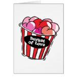 seau de png d'amour cartes de vœux