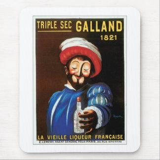 Sec triple Galland 1821 arts vintages d'annonce de Tapis De Souris