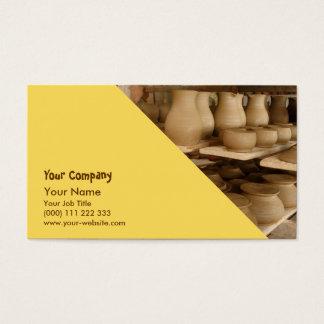 Séchage de poterie cartes de visite