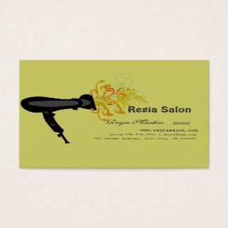Sèche-cheveux et remous floraux cartes de visite