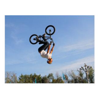 Secousse à l'envers de BMX Cartes Postales