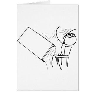 Secousse de Tableau renversant le visage Meme de r Carte De Vœux