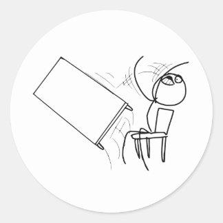 Secousse de Tableau renversant le visage Meme de Sticker Rond