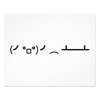 Secousse de Tableau renversant l'émoticône d'ASCII Prospectus 11,4 Cm X 14,2 Cm