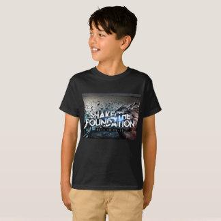 Secousse noire de base de garçons le T-shirt de