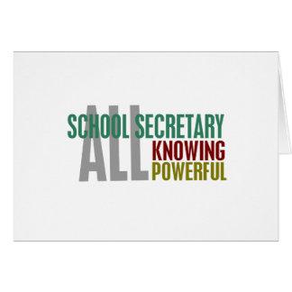 Secrétaire d'école carte de vœux