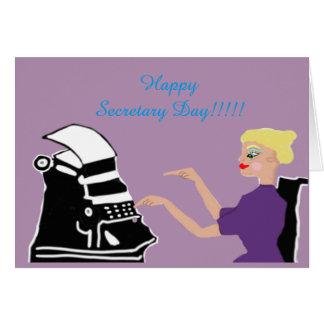 Secrétaire heureux Day Carte De Vœux