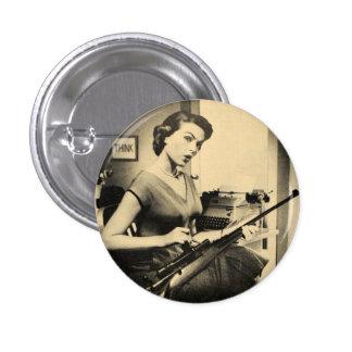 Secrétaire impertinent vintage Rifle Gun Fashion B Badge