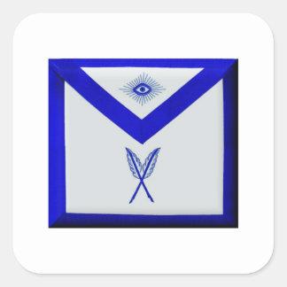 Secrétaire maçonnique Apron Sticker Carré