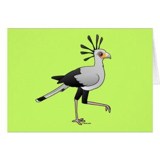 Secrétaire oiseau carte de vœux