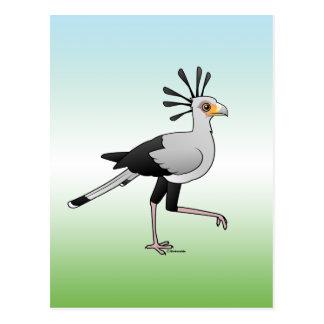Secrétaire oiseau carte postale