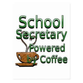 Secrétaire Powered d'école par le café Cartes Postales