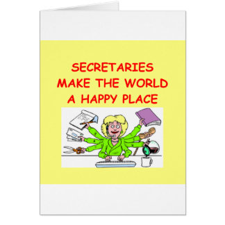 secrétaires carte de vœux