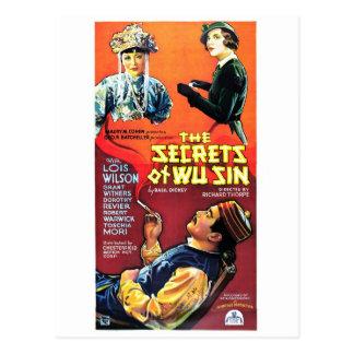 Secrets de péché de Wu Carte Postale