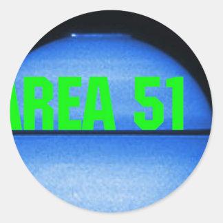 secteur 51 sticker rond