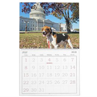 Secteur de chien calendrier de 18 mois